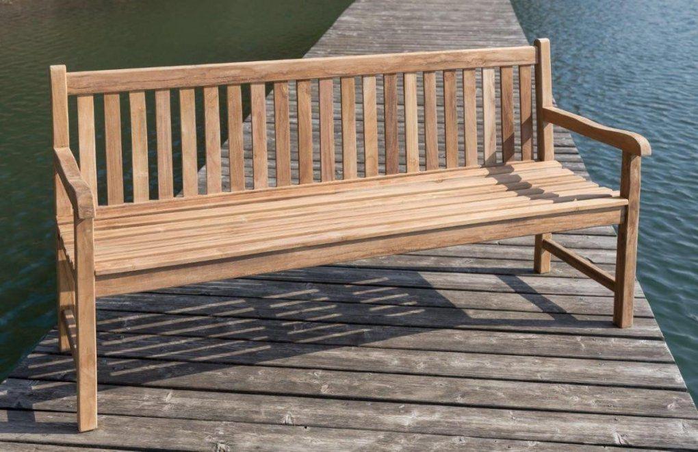 Stabile Gartenbank Picadelly 180 Cm In Premium Teak Mit Armlehne von Gartenbank 180 Cm Breit Photo