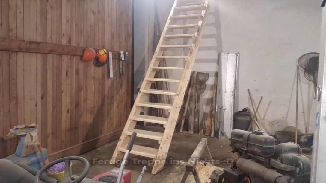 Stabile Holztreppe Selbst Bauen  Youtube von Holztreppe Außen Selber Bauen Photo
