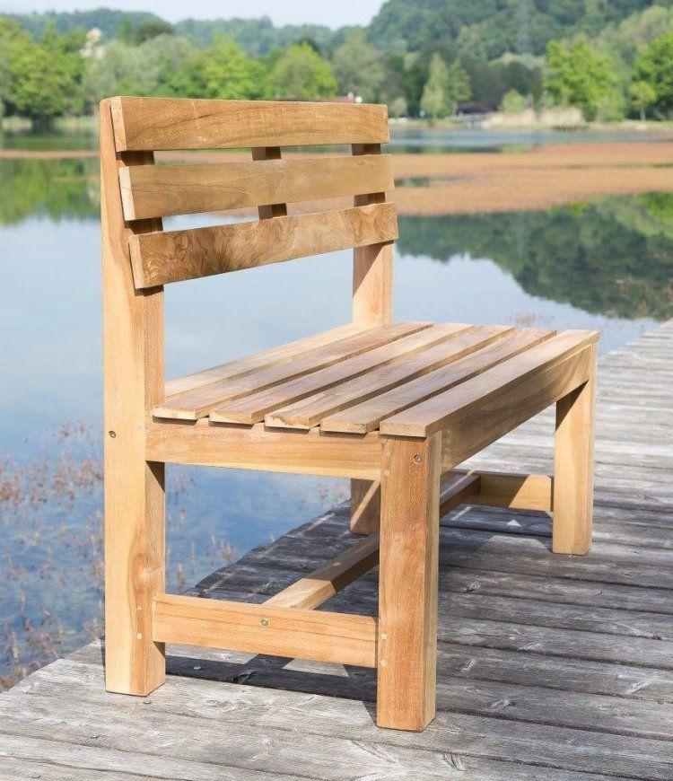 Stabile Parkbank Gartenbank 120 Cm In Premium Teak Ohne Armlehne von Gartenbank Holz 120 Cm Bild