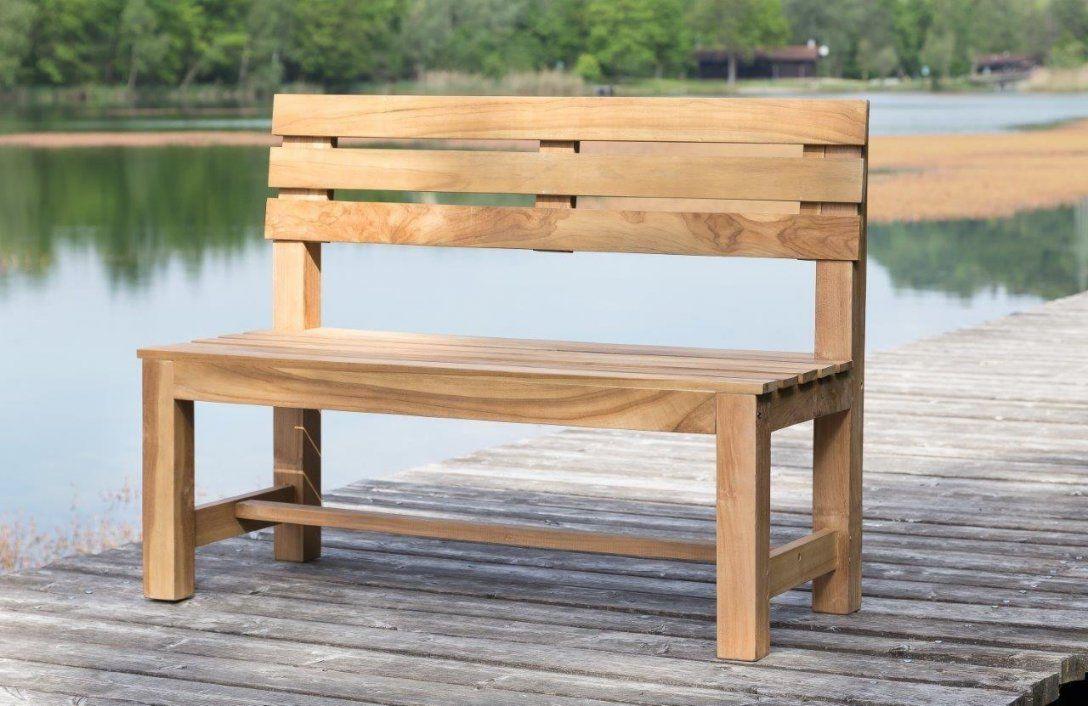 Stabile Parkbank Gartenbank 120 Cm In Premium Teak Ohne Armlehne von Gartenbank Holz 120 Cm Photo