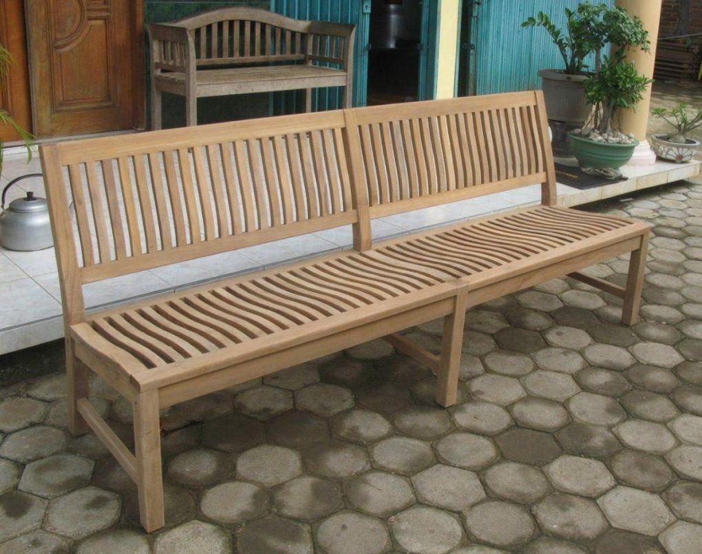 Stabile Xxl Gartenbank Kingsbury In Premium Teak Ohne Armlehne 220 Cm von Gartenbank Holz Ohne Armlehne Photo