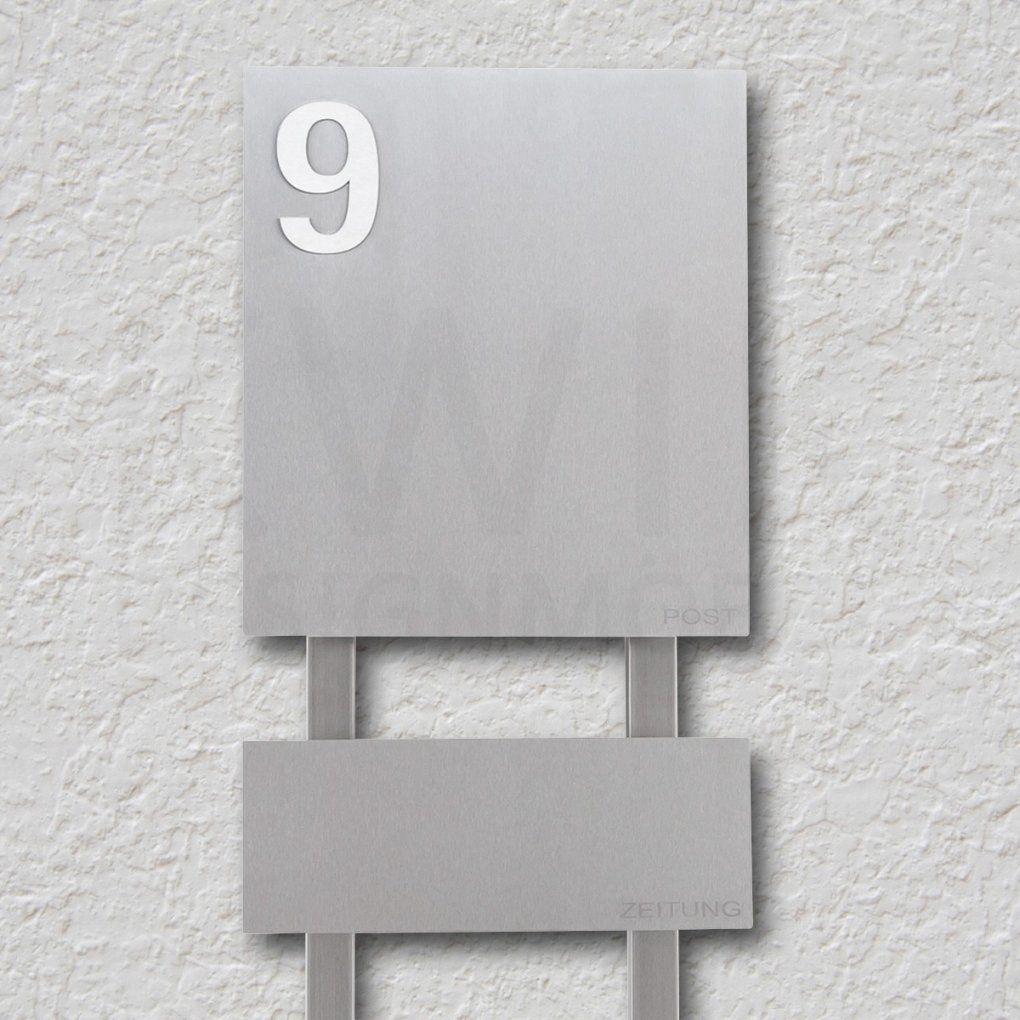 briefkasten edelstahl anthrazit mit hausnummer und von briefkasten edelstahl mit hausnummer. Black Bedroom Furniture Sets. Home Design Ideas