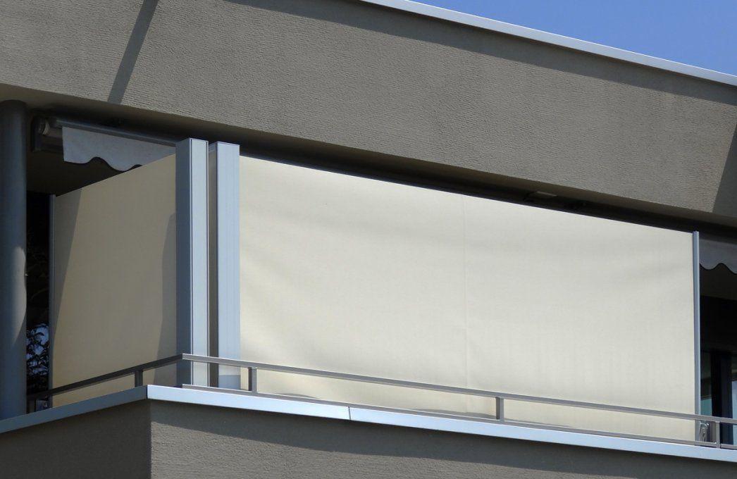 Startseite  Göldi  Wind Und Sichtschutz Nach Mass von Balkon Sichtschutz Seitlich Ohne Bohren Bild