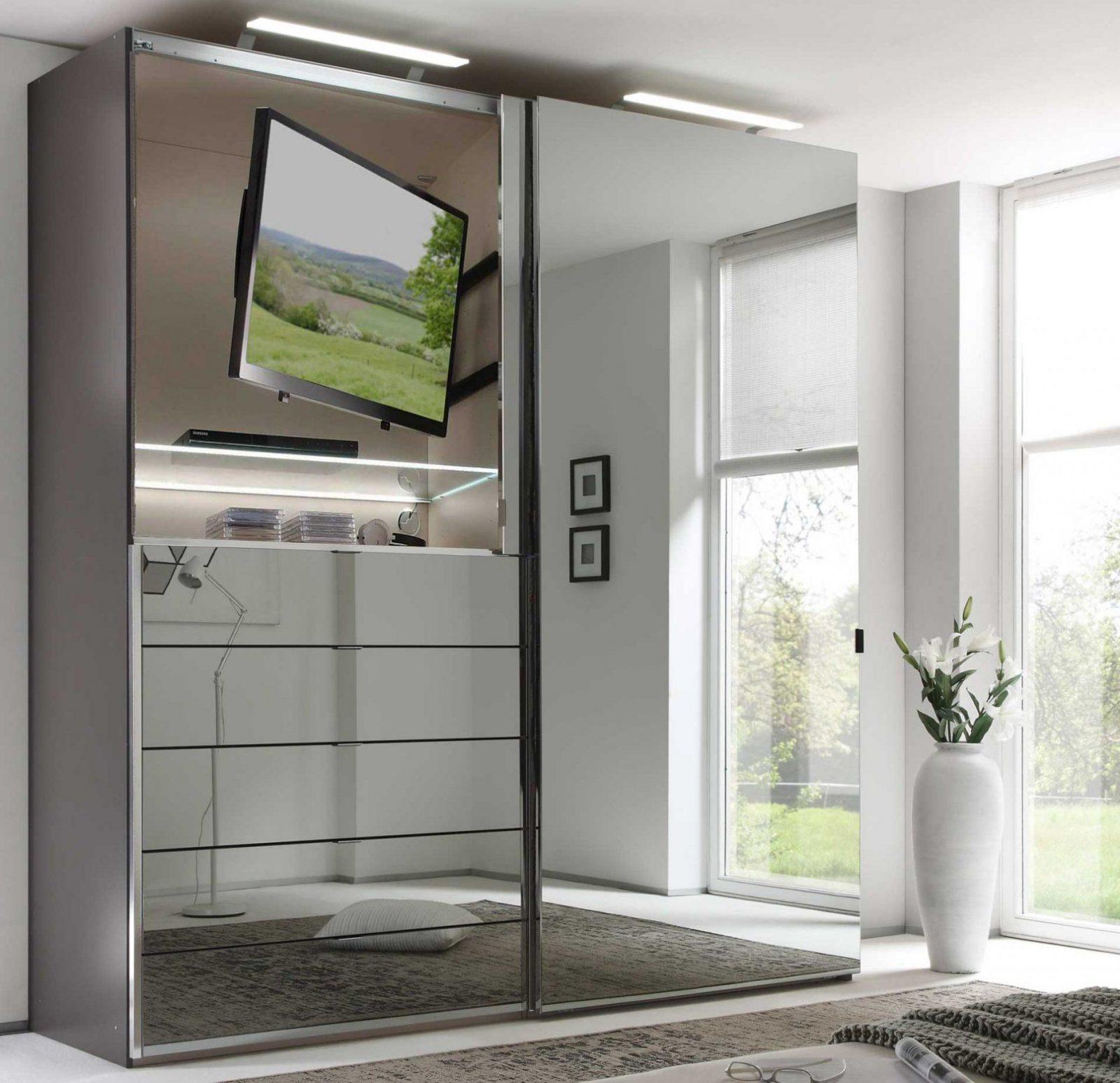 Staud Media Kleiderschrank Mit Tv Fach Glas Viele Farben Breite 225 von Kleiderschrank Mit Tv Fach Bild