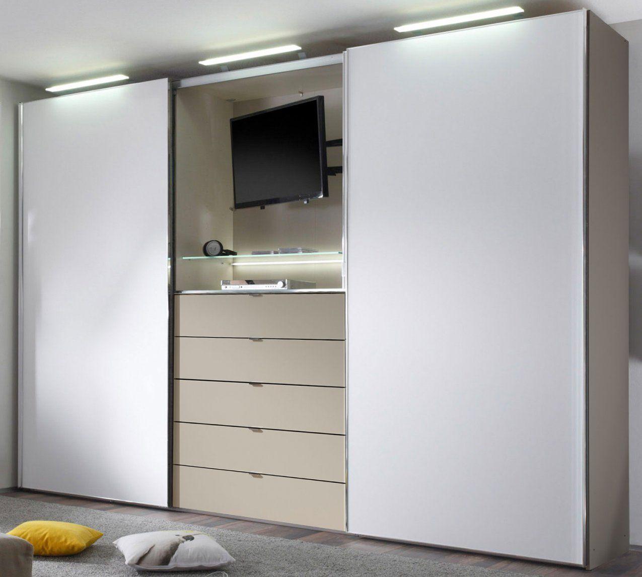 Staud Media Light Kleiderschrank Mit Tv Fach Viele Farben  Möbelmeile24 von Kleiderschrank Mit Tv Aussparung Bild