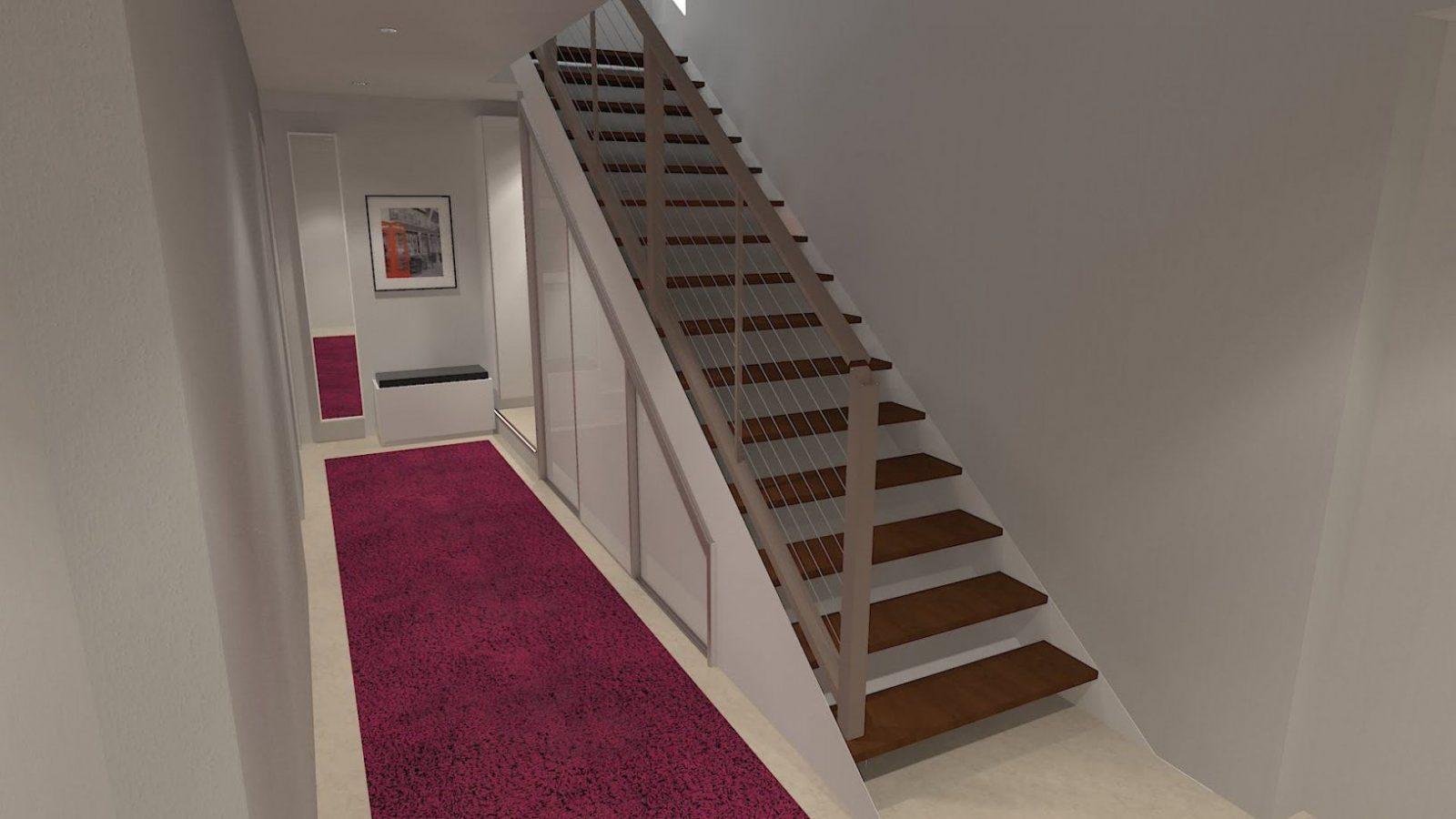 Stauraum Unter Einer Offenen Treppe Sinnvoll Nutzen  Youtube von Schuhschrank Unter Der Treppe Bild