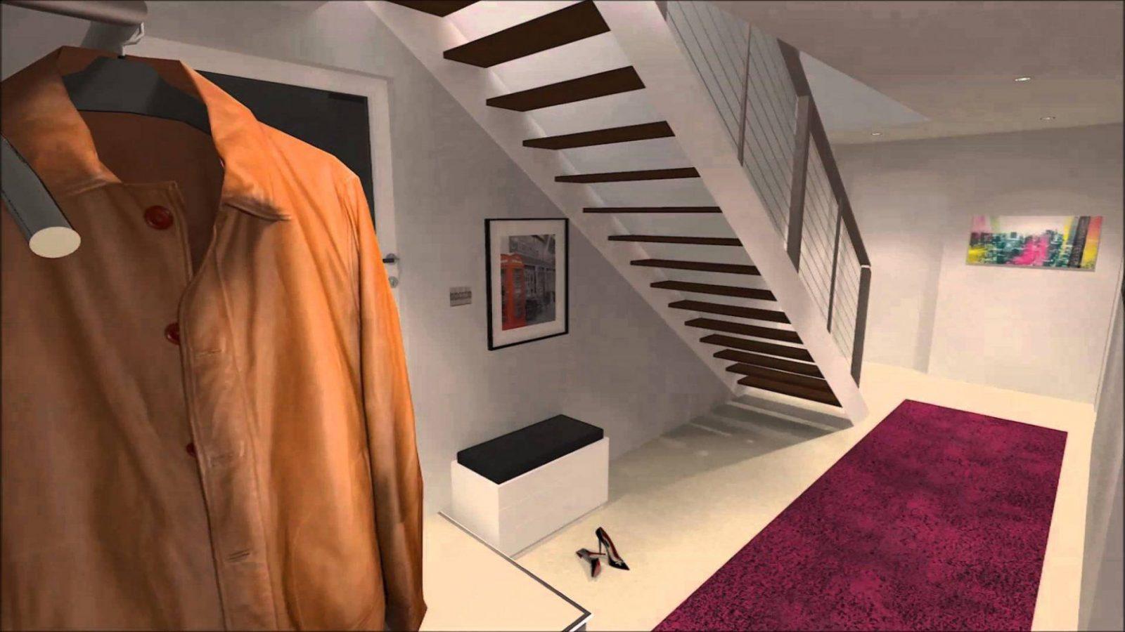 Stauraum Unter Einer Treppe Sinnvoll Nutzen (Variante2)  Youtube von Regal Für Unter Die Treppe Bild