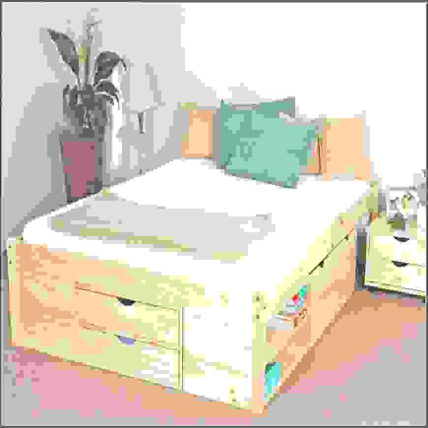 Stauraumbett 140×200 Selber Bauen Roller Betten Stauraum Weis Holz von Stauraumbett 140X200 Selber Bauen Bild