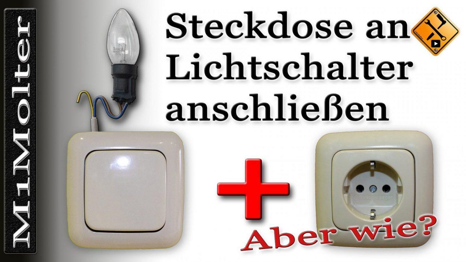 Steckdose An Lichtschalter Anschließen  Von M1Molter  Youtube von Steckdose An Lichtschalter Anklemmen Photo