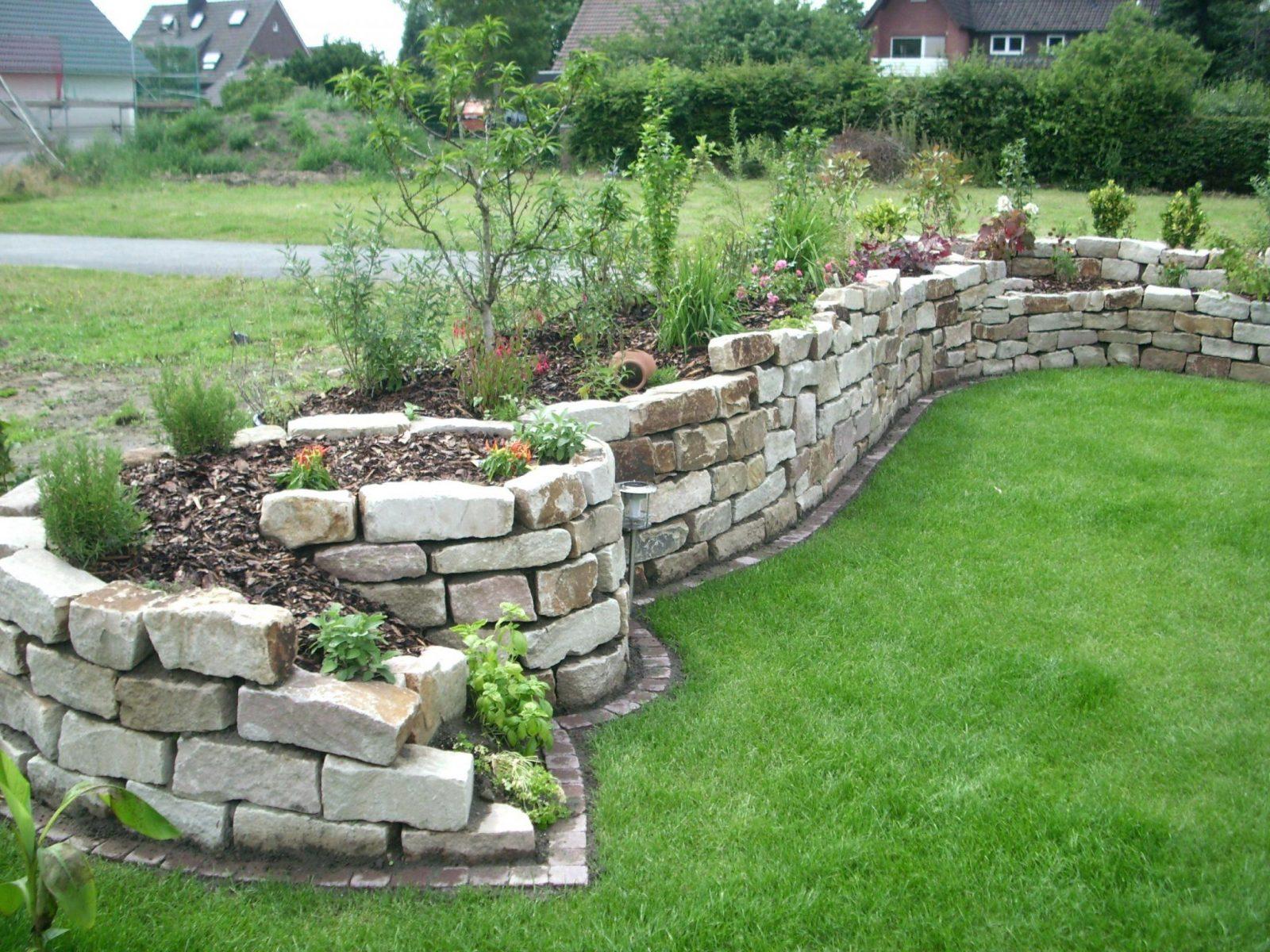 Steinmauer Bauen  Schanes Tolles Garten Gestaltung Deko von Steinmauern Im Garten Selber Bauen Photo