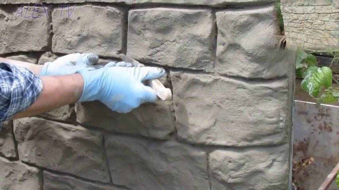 Steinoptik Selber Machen  Youtube von Wandverkleidung Stein Selber Machen Bild