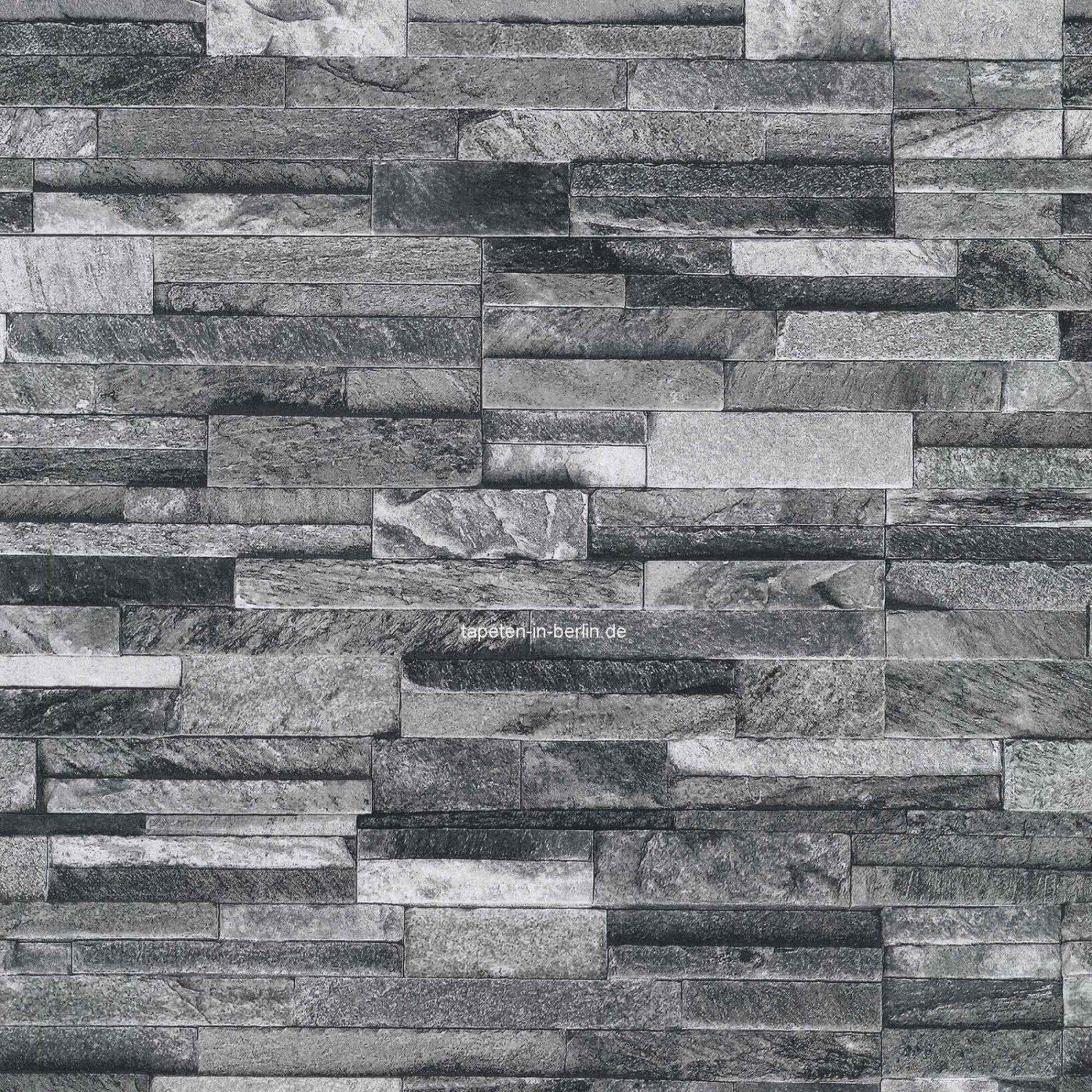 Steintapeten In 3D Optik Grau Beige Braun Wohnzimmer Steintapete von Fototapete 3D Stein Tapete Bild
