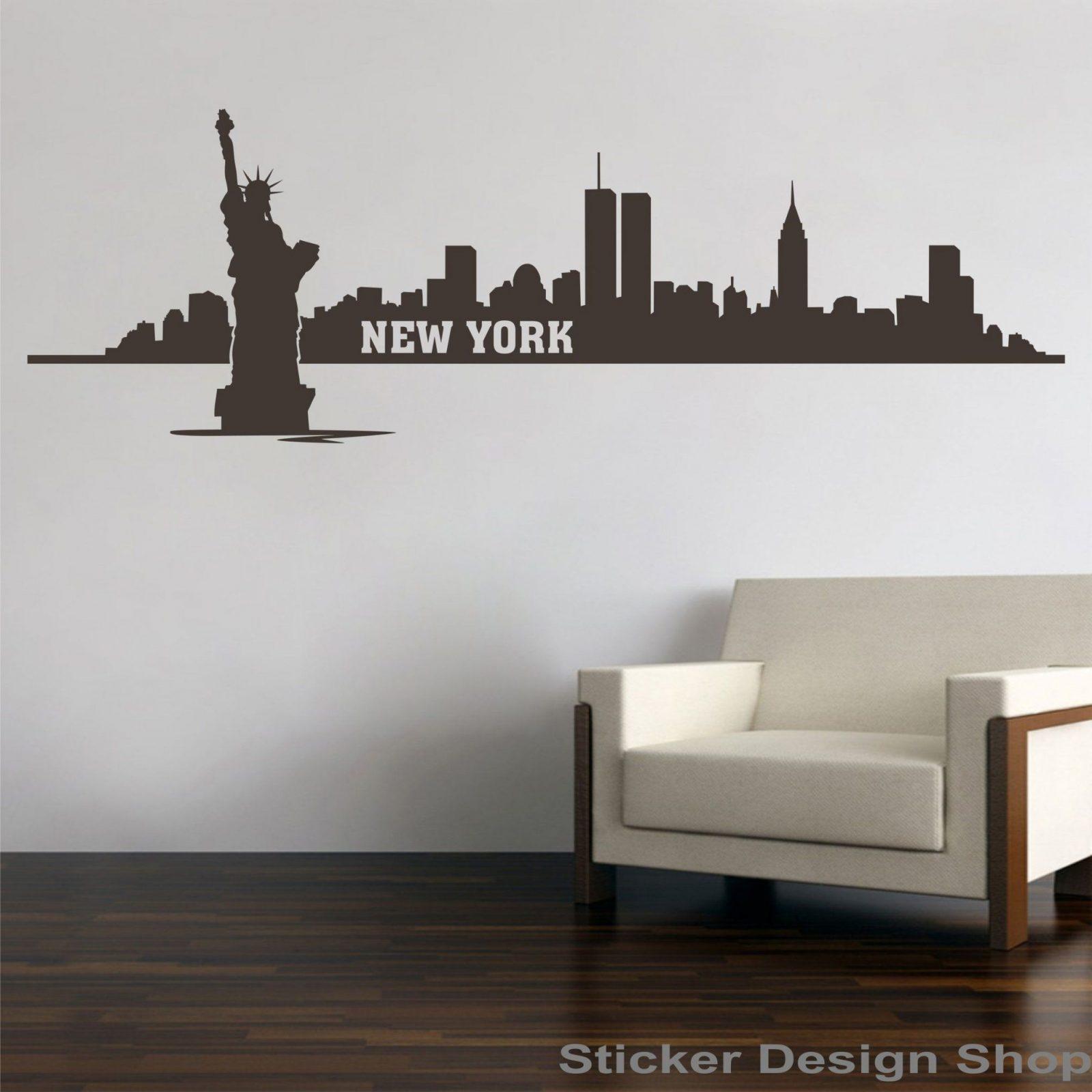 Sticker Design Shop  New York City Skyline Freiheitsstatue von Wandtattoo New York City Photo