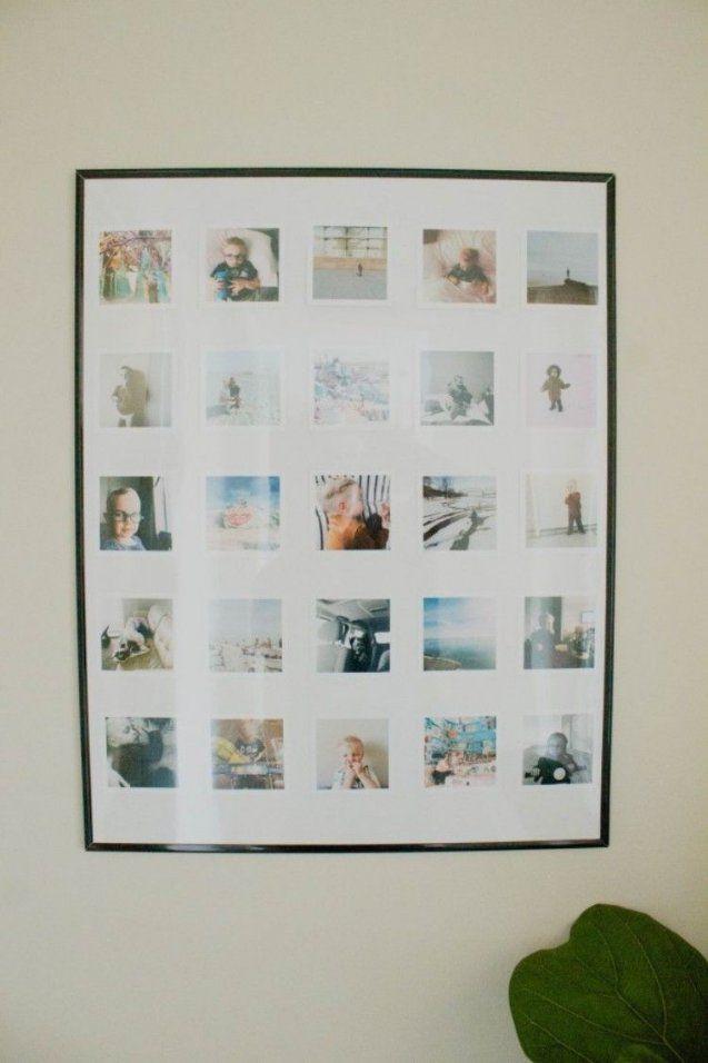 Stilvolle Fotocollage Im Großen Simplen Bilderrahmen …  Pinteres… von Fotocollage Herz Selber Machen Photo