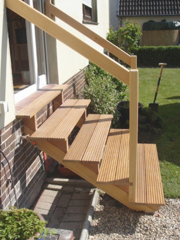 Stilvolle Treppe Außen Selber Bauen Schne Auentreppe Holz Selber von Außentreppe Selber Bauen Holz Bild