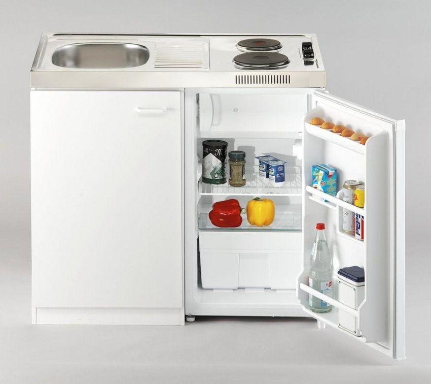 Stilvollen Miniküche Mit Kühlschrank  Küchen Ideen von Kühlschrank 100 Cm Breit Photo