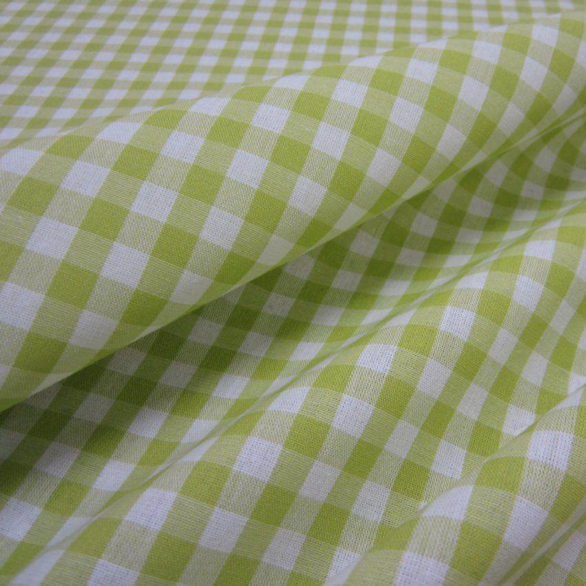 Stoff Karo  Baumwollstoff Bauernkaro Kariert Grün Weiß Karo  Ein von Bettwäsche Grün Kariert Bild