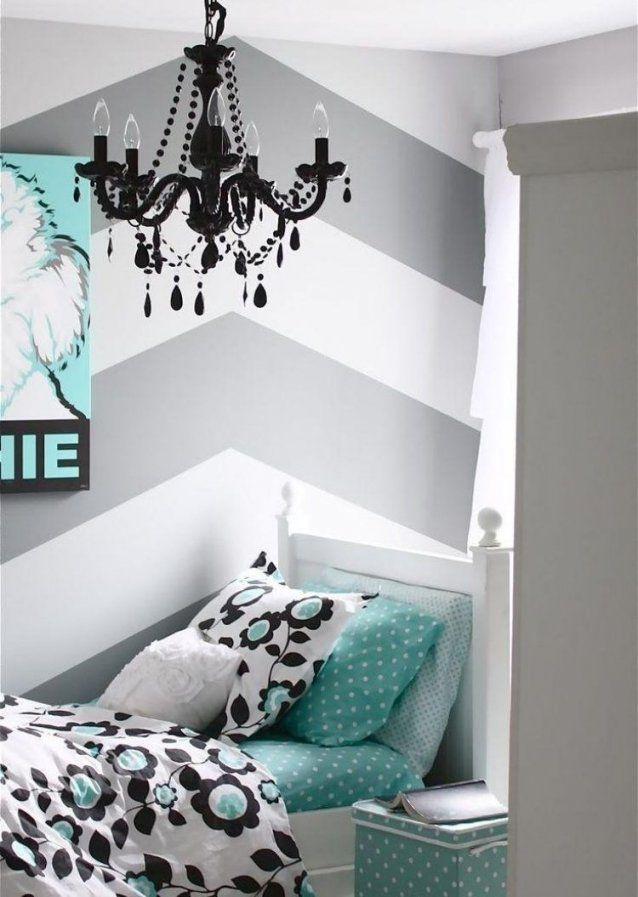 Streifen Und Zig Zag Muster Sind Einfach Zum Nachmachen Haus Von Wand  Streichen Muster Ideen Photo