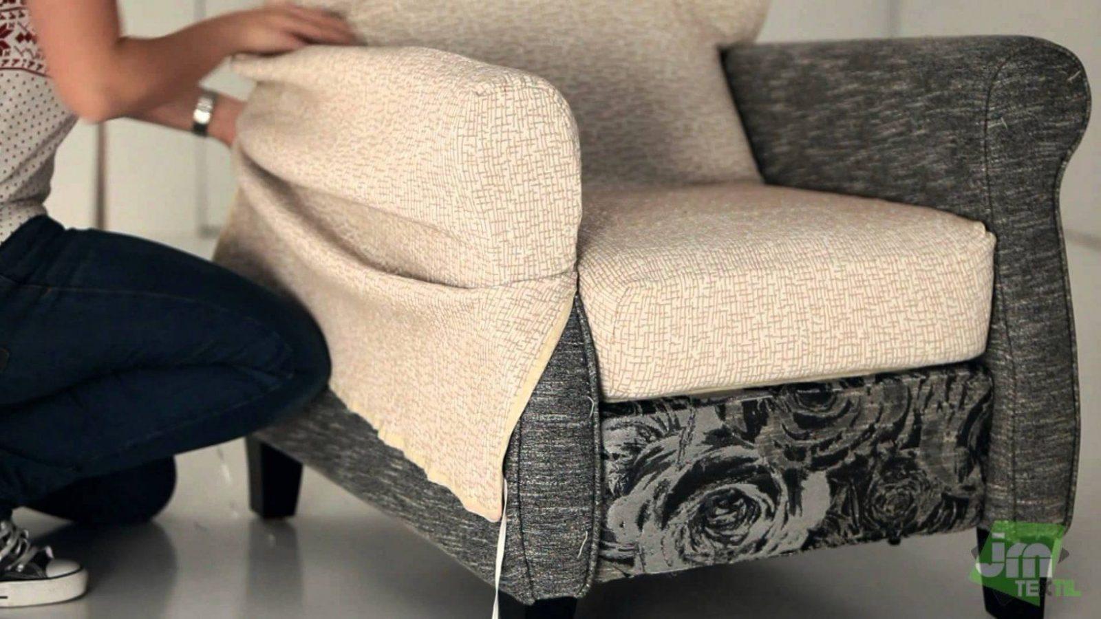 Stretchhusse Für Relaxsessel  Youtube von Sofa Hussen Selber Nähen Bild