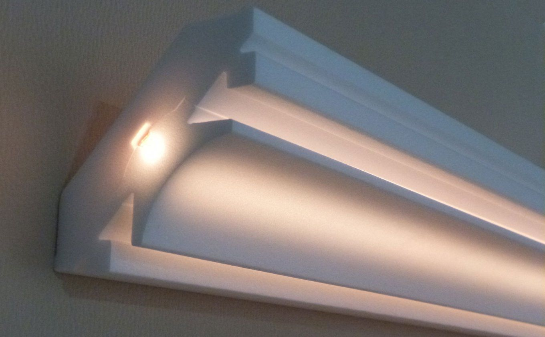 Stuck Ledbeleuchtung Profil Zierprofil von Stuck Mit Indirekter Beleuchtung Photo