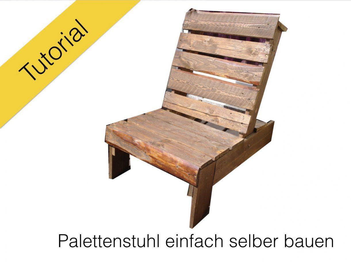 Stuhl Aus Europaletten Diy Tutorial  Youtube von Sessel Aus Europaletten Bauen Photo