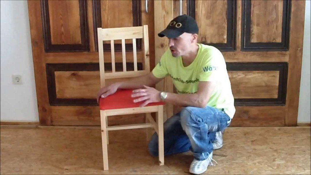 Stühle Mit Leder Beziehen Youtube von Polster Neu Beziehen