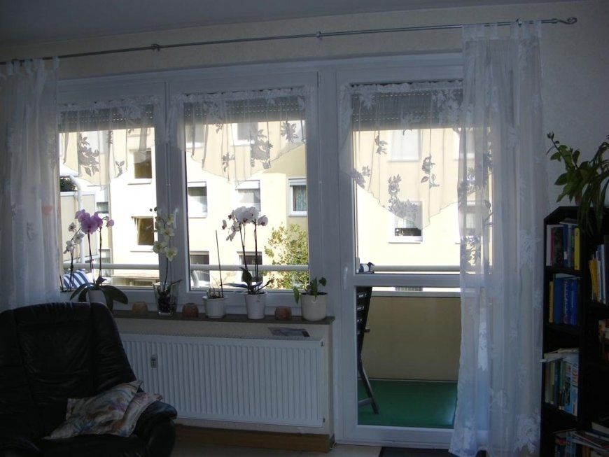 Stunning Wohnzimmer Gardinen Mit Balkontur Pictures Ideen von Ausgefallene Gardinen Ideen Photo