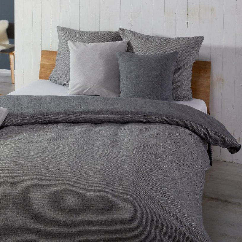 Stylist Ideas Bettwäsche Biber Lux 155x220 Grau Dänisches Von