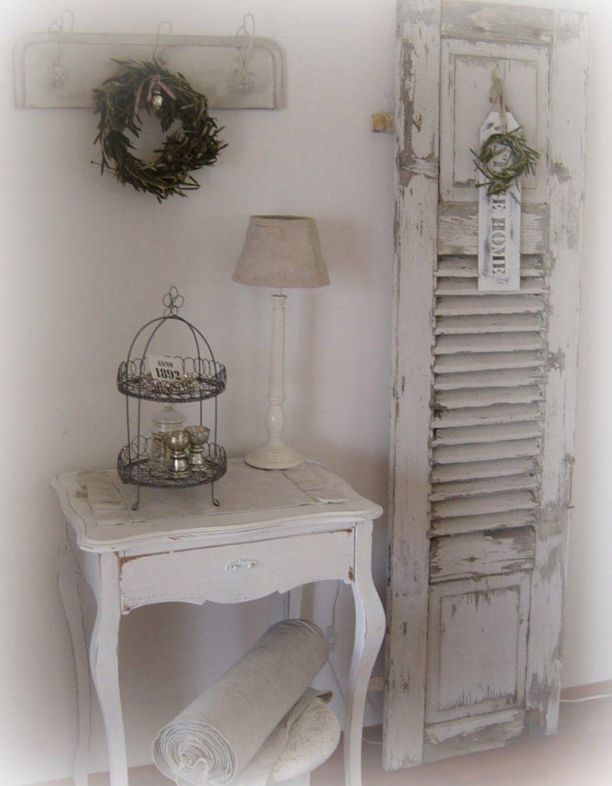 Szenisch Shabby Chic Wohnzimmerschrank Wohnzimmer Wand Deko Selber von Shabby Deko Selber Machen Bild