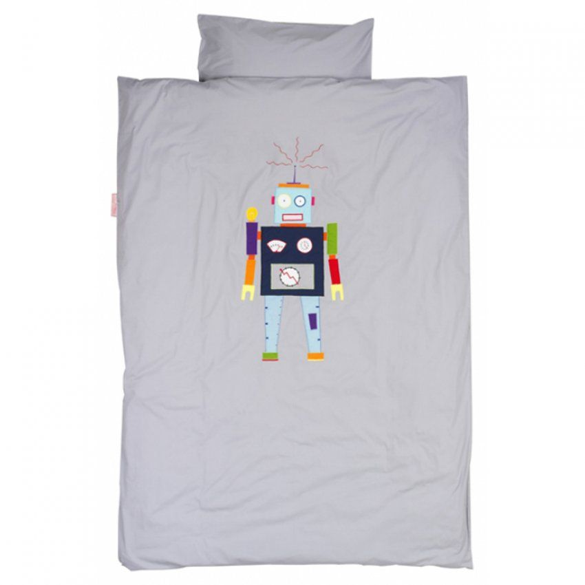 Taftan Bettwäsche Roboter Grau 135 X 200 Bei Kinder Räume von Taftan Bettwäsche 135X200 Bild