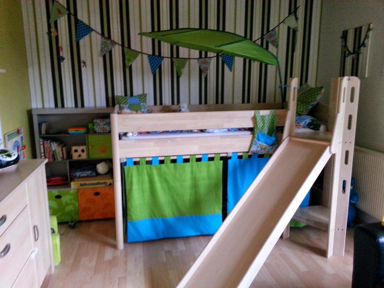 Tan Ja´s Nähstübchen Lennox Neues Hochbett Mit Vorhang von Vorhang Für Hochbett Selber Nähen Bild