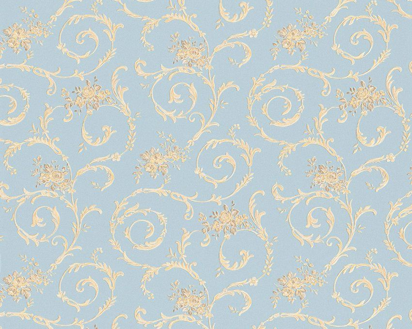 Tapete Blau Gold Barock Concerto As Creation 959783  Kaufen Bei von Barock Tapete Blau Gold Photo