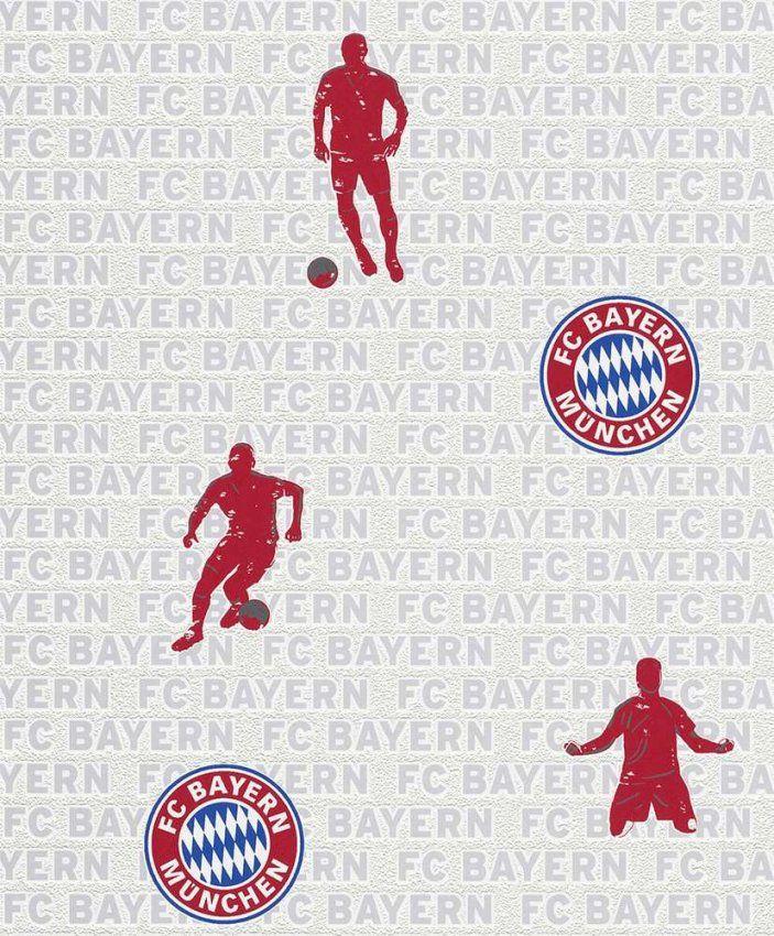 Tapete Rasch 703108 Fc Bayern München  Kostenloser Versand von Fc Bayern Gardinen Photo