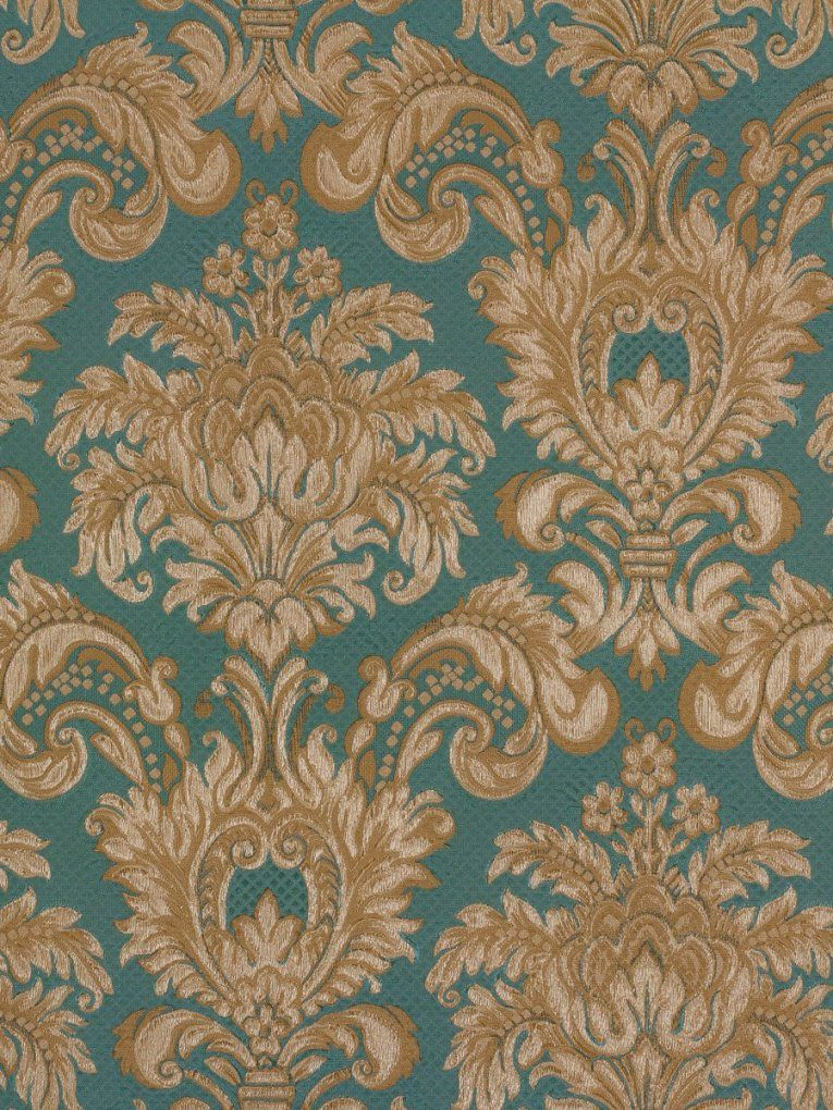 Tapete Rasch Textil Barock Blau Gold Tradizionale 8035 von Barock Tapete Blau Gold Photo