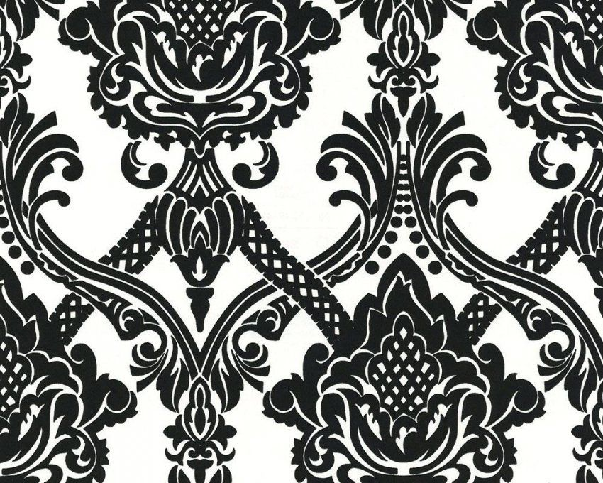 Tapete Schwarz Weiss Nicht Mehr Zu Kaufen Silber Barock Gepunktet von Barock Tapete Schwarz Weiß Bild