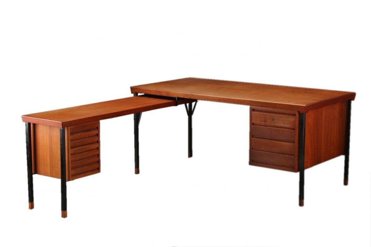 Teak Schreibtisch In Lform Von Peter Hvidt & Orla Mølgaard Für von Schreibtisch In L Form Bild