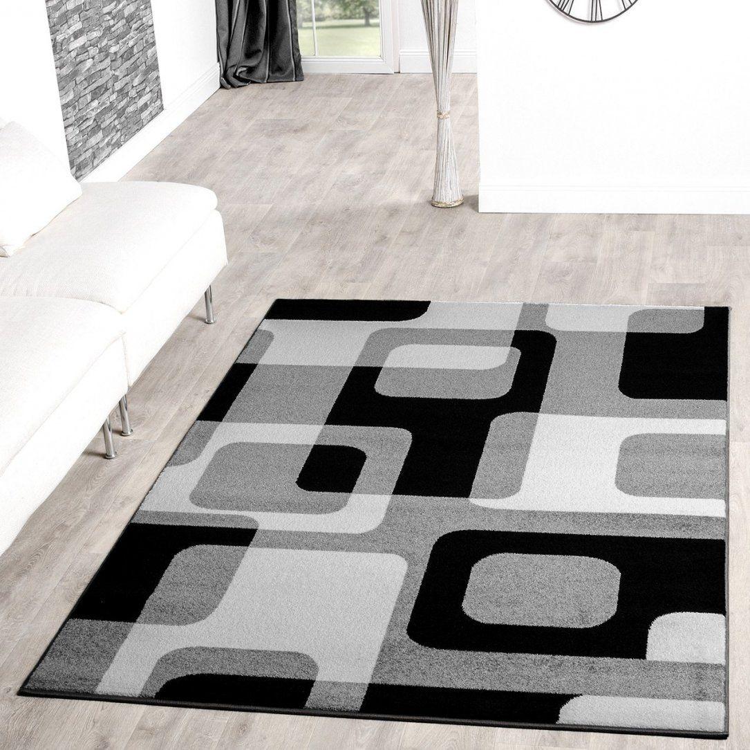 Teppich Grau Weiß Designer Teppich Muster In Grau Weiss Top In von Wohnzimmer Teppich Schwarz Weiß Photo