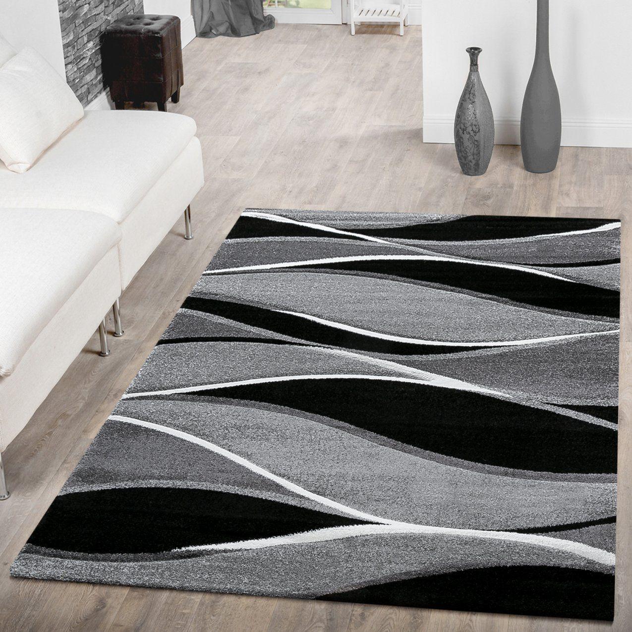 Teppich Weiß Schwarz  Harzite von Teppich Schwarz Weiß Gestreift Bild