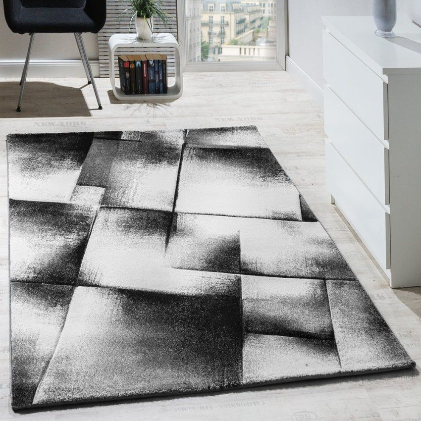 Teppiche Bemerkenswert Teppich Schwarz Design Schrecklich Teppich von Wohnzimmer Teppich Schwarz Weiß Photo