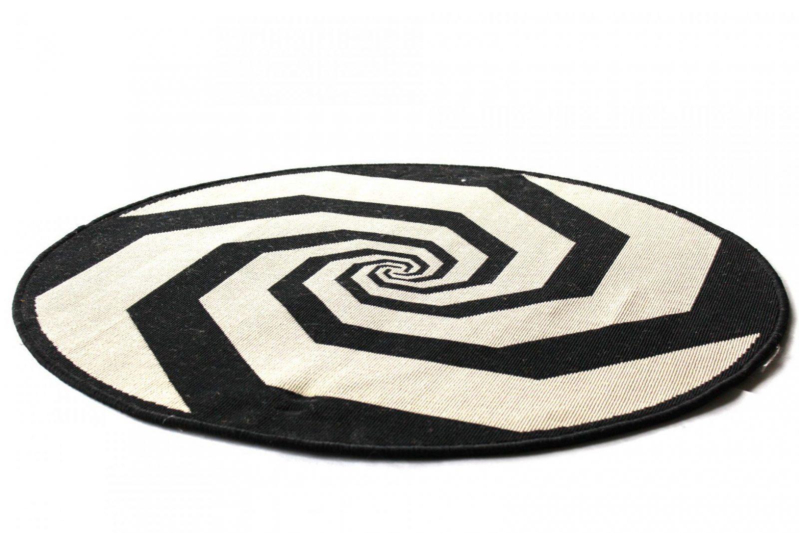 Teppiche Nemerkenswert Teppich Weiß Schwarz Design Wunderbar von Teppich Rund Schwarz Weiß Bild
