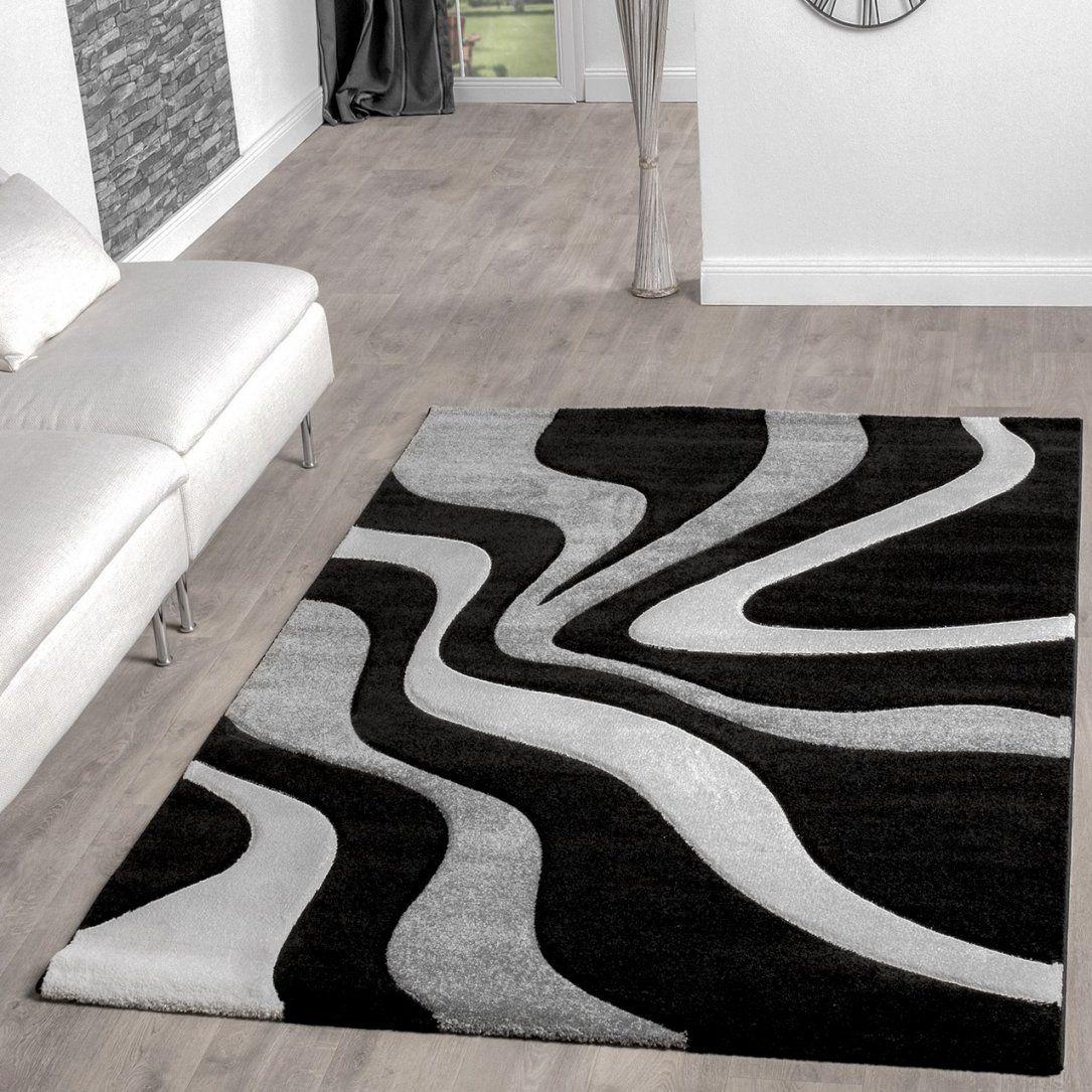 Teppiche Überraschend Teppich Rund Schwarz Weiß Ideen Teppich von Wohnzimmer Teppich Schwarz Weiß Bild