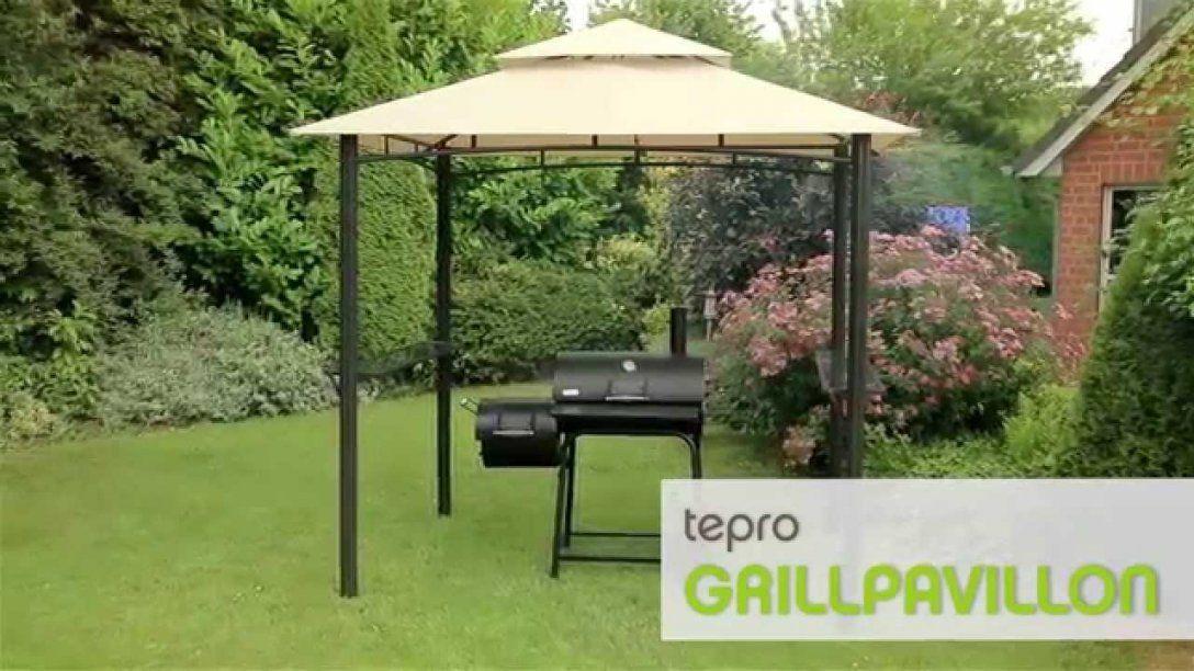 Tepro Grillpavillon Mit Doppeldach  Youtube von Grill Dach Selber Bauen Photo