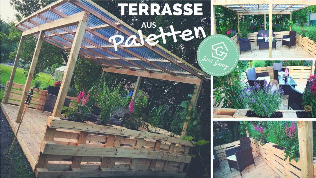 Terrasse Aus Paletten Selber Bauen  Palettenmöbel  Europaletten von Terrasse Aus Paletten Bauen Bild