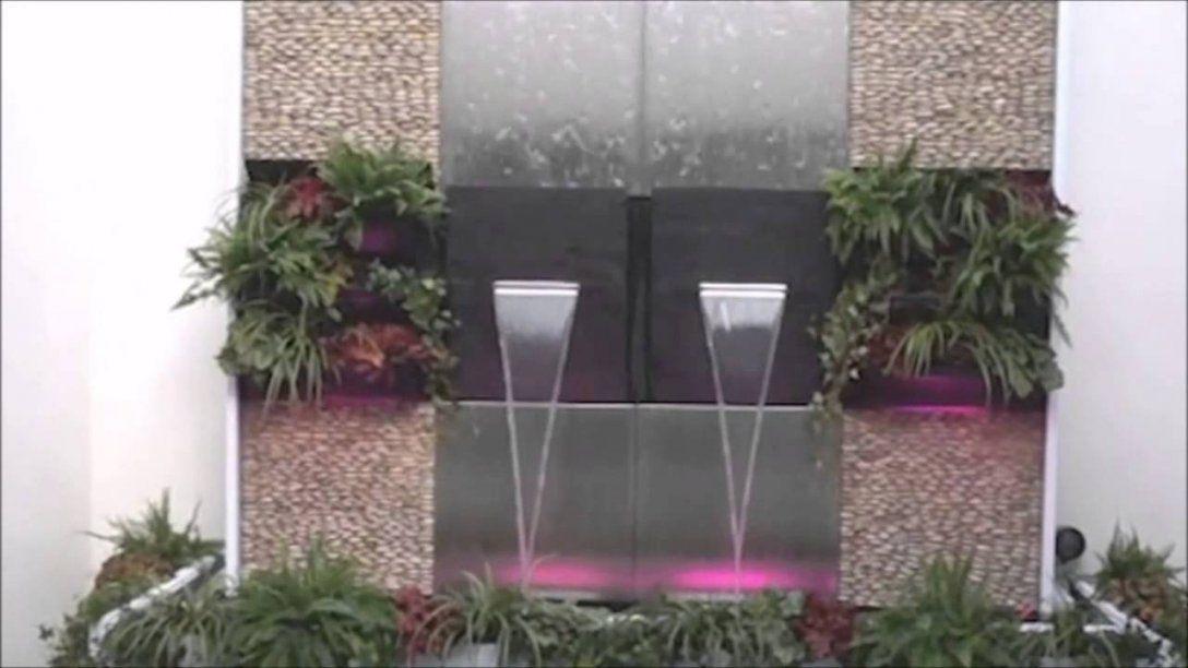 Terrassen Wasserwand Naturawall Aus Schiefer  Youtube von Wasserwand Garten Selber Bauen Bild