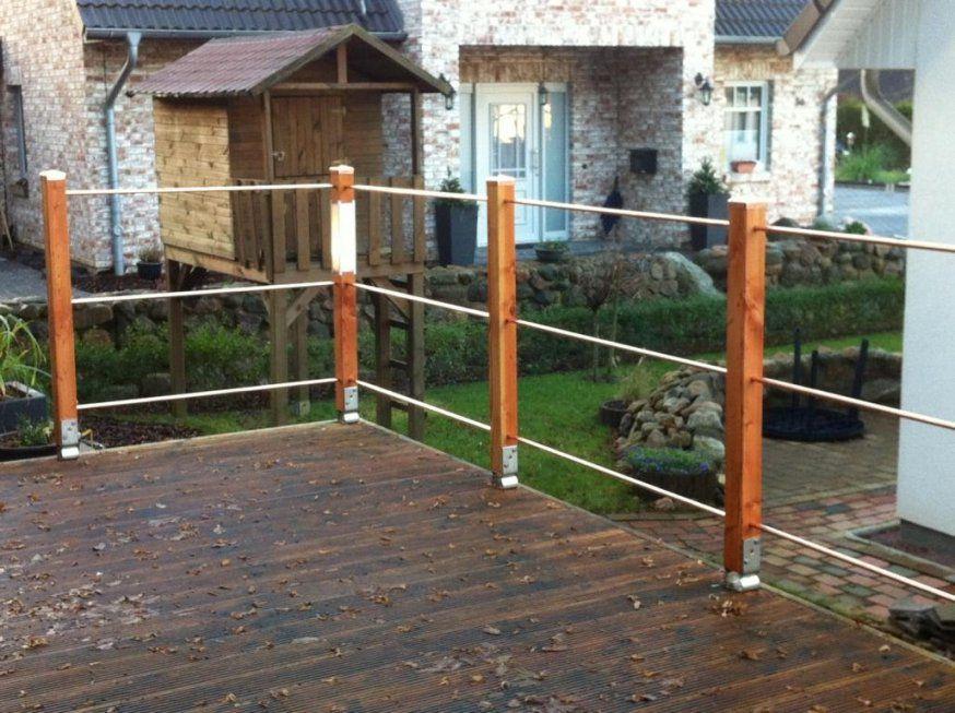 Terrassengeländer Update4 Abschluss  Selber Machen Das Macht Spaß von Veranda Aus Holz Selber Bauen Bild