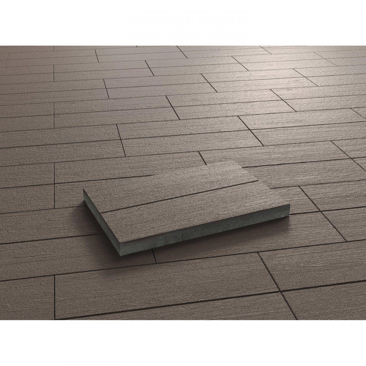 Terrassenplatte Beton Holzdiele Dunkelbraun Beschichtet 60 Cm X 40 von Beton U Steine Obi Photo