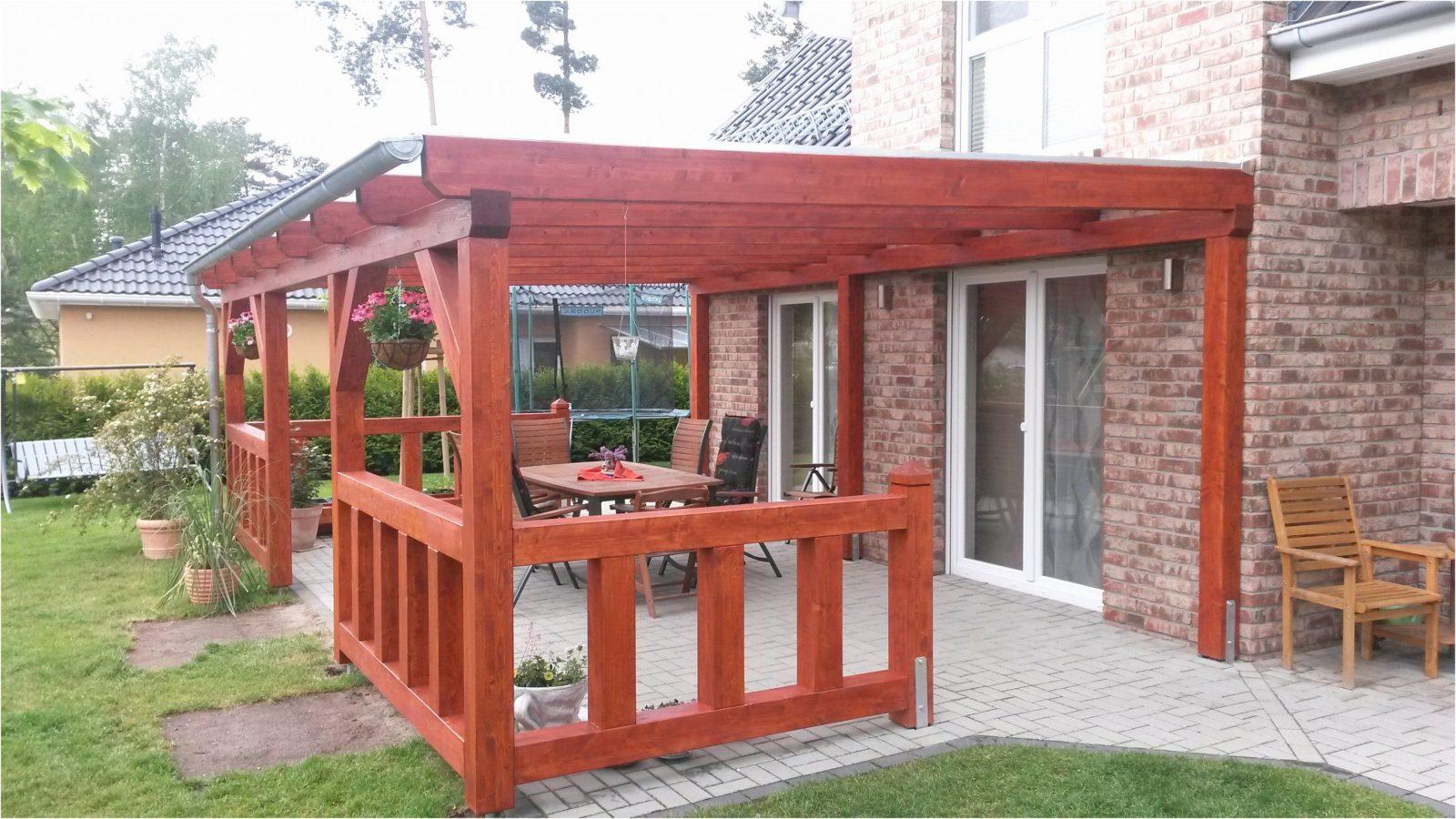 Terrassenüberdachung Freistehend Holz Selber Bauen Frisch von Terrassenüberdachung Freistehend Selber Bauen Bild