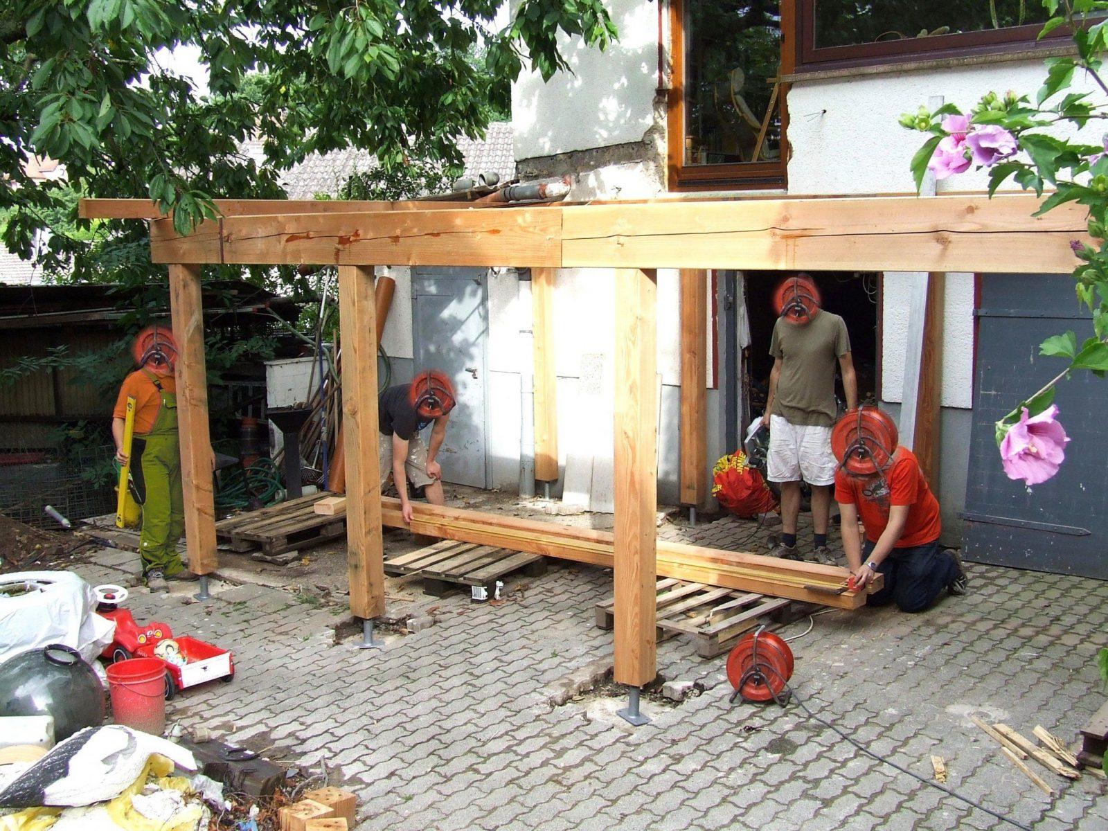 Terrassenuberdachung Selber Bauen Bauanleitung Holz von Vordach Selber Bauen Bauanleitung Bild