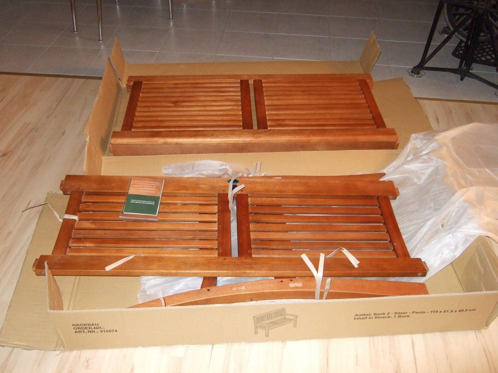 Testbericht Unserer Gartenbank von Gartenbank Eukalyptus 2 Sitzer Holzbank Bild