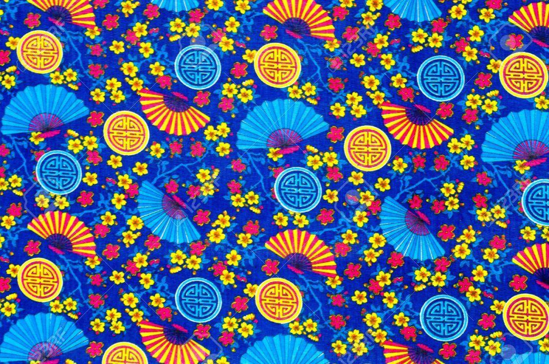 Textur Hintergrund Textilien Baumwollkleidung Bettwäsche von Bettwäsche Japanische Motive Photo